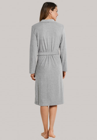 Peignoir en tissu éponge gris clair - selected!premium