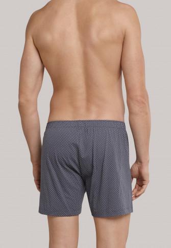 Boxershorts Jersey anthrazit-weiß gemustert - Ebony