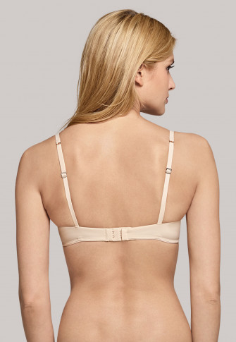 Sand-coloured wired bra with pads - Pure Effect