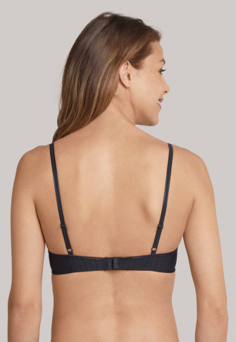 Underwired bra with cups, black - Sabrina