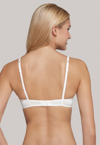 Underwire bra with cups and lace white - Pure Cotton
