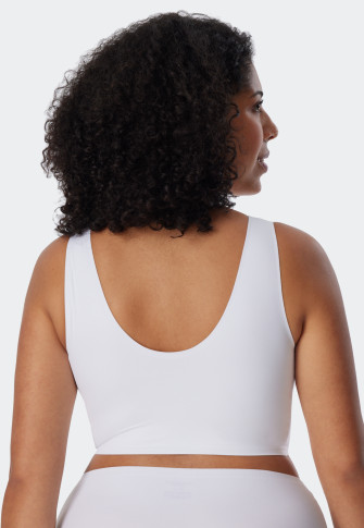 Bustier microvezelstof uitneembare pads  wit - Invisible Soft