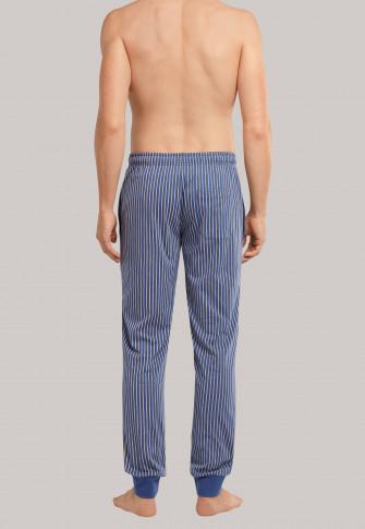 Broek lang manchetten strepen jeansblauw - Mix+Relax