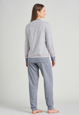 Pajamas long cuffs stripes dark blue - Sportive Stripes