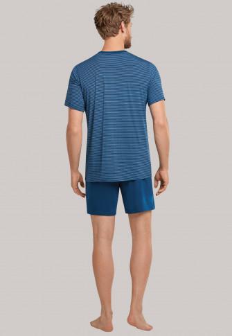 Pajamas short stripes admiral - Long Life Soft