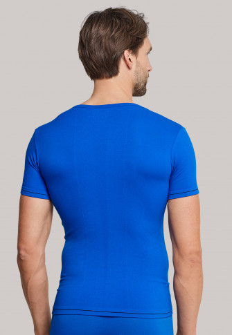 Tee-shirt manches courtes bleu - Seamless Active