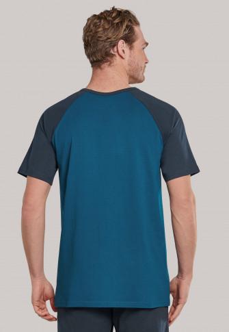 Shirt kurzarm blaugrau - Mix+Relax 1875