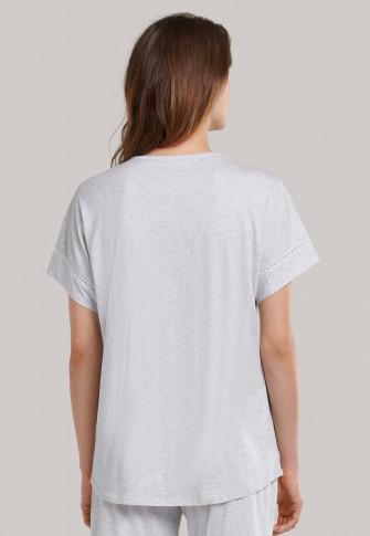 Shirt korte mouwen oversized grijs-gemêleerd - Mix+Relax