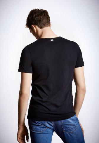 Shirt kurzarm schwarz - Revival Hanno