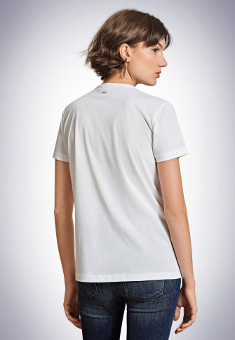 Shirt korte mouw wit - Revival Carla