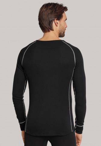 T-shirt thermique noir ultra chaud à manches longues - Sport Thermo Plus