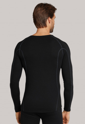 Shirt long- sleeve thermal underwear warm black - Sport Thermo Light