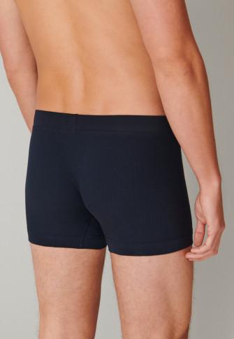 Shorts Doppelripp Organic Cotton dunkelblau - Retro Rib