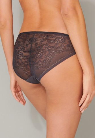 Slip Microfaser Spitze graphit - Invisible Lace