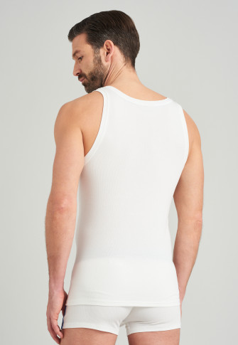 Unterhemd Doppelripp Tencel Organic Cotton weiß - Sustainable Rib