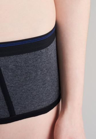 Antraciet-gemêleerde micro-pants - Revival Greta