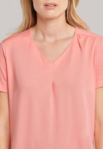 Schlafanzug 3/4-lang Feininterlock pfirsich - Comfort Fit