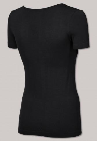 Shirt kurzarm seamless Bambus schwarz - Active Mesh Bamboo
